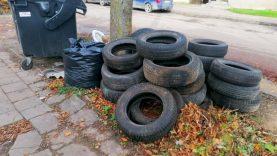 Kur dėti nebetinkamas naudoti automobilių padangas