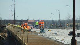 Viaduko remontą numatyta baigti gegužės pabaigoje