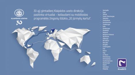 Nepriklausomas Klaipėdos uostas pasitinka 30-ąjį gimtadienį ir kviečia leistis į virtualią kelionę jūromis ir vandenynais