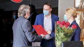 Sveikinimai Tarptautinio sportinio ėjimo festivalio Alytuje direktoriui K. S. Paviloniui