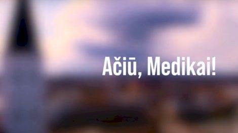Šiaulių miesto medikams skambėjo muzika, sveikinimai ir padėkos žodžiai