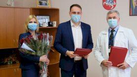 Profesinės šventės proga pasveikinti Alytaus miesto medicinos darbuotojai