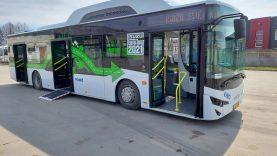 Į Šiaulių gatves išriedėjo bandomasis autobusas