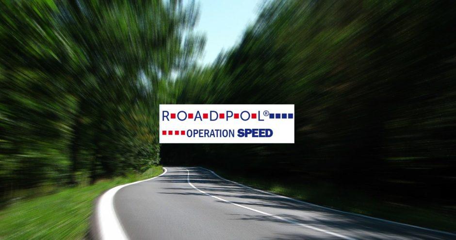 Šią savaitę Europos keliuose tikslinė prevencinė priemonė – greičio kontrolė