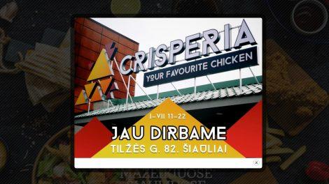 """Šiauliuose duris atvėrė naujas greito maisto restoranas """"Crisperia"""""""