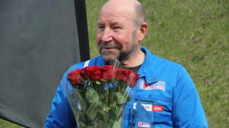 Sukakties proga pasveikintas dviračių sporto treneris