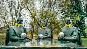 """Vilniaus skulptūros lydėdamos """"The Roop"""" į Roterdamą jau pasiruošė diskotekai"""