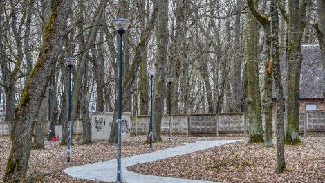 Skaistakalnio parke vyksta intensyvūs atnaujinimo darbai