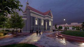 Šventųjų vardus gavo du šalia bažnyčių planuojami sostinės skverai