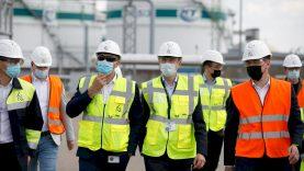 Energetikos ministras D. Kreivys aplankė KN terminalus Klaipėdoje