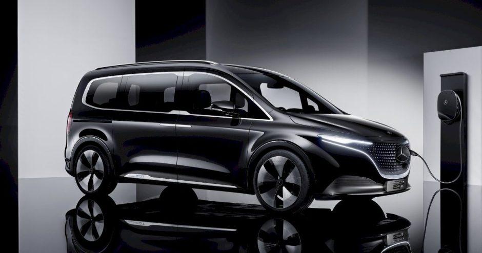 """""""Mercedes-Benz"""" pristato koncepcinį EQT – elektromobilį, kuris išsiskiria erdvumu"""