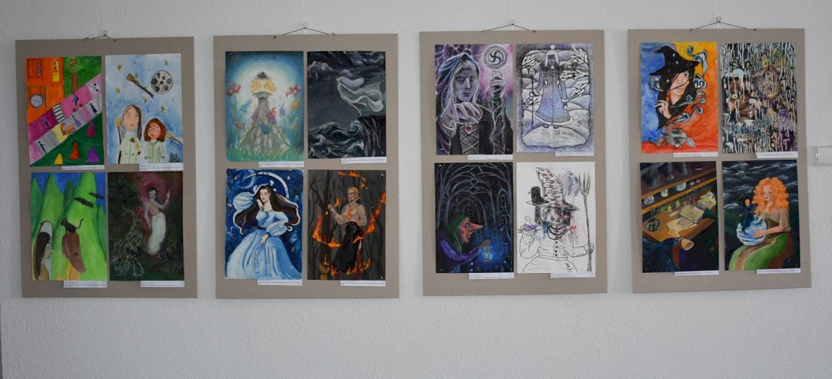 """Tarptautinio piešinių  konkurso """"RAGANA"""" paroda žavi brandžiais vaikų ir jaunuolių darbais"""