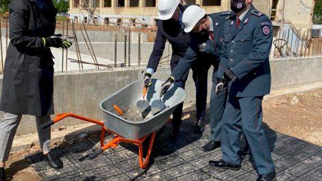 Įkasta naujojo Panevėžio policijos pastato statybų pradžią simbolizuojanti kapsulė