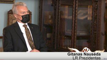 Prezidento Gitano Nausėdos interviu Šiauliuose