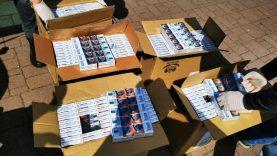 Pareigūnai Mažeikiuose demaskavo nelegalios prekybos kontrabandinėmis  cigaretėmis ir  namine degtine tinklą