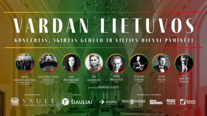 """Koncertas, skirtas Gedulo ir vilties dienai """"Vardan Lietuvos"""" (tiesioginė transliacija internetu)"""