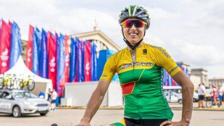 Plento dviratininkė Rasa Leleivytė