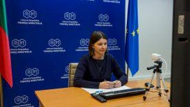 """Finansų ministrė G. Skaistė: """"Palaikome ERPB prioritetus – pagalbą šalims po pandemijos ir kovą su klimato kaita"""""""