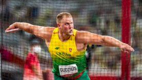 Disko metikas Andrius Gudžius Tokijo olimpinėse žaidynėse iškovojo šeštąją vietą