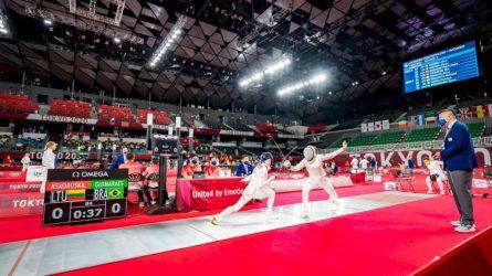 Lietuvos penkiakovininkai pradėjo kovą olimpinėse žaidynėse