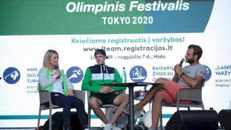 Iš Tokijo grįžę A. Glebauskas ir V. Andrulytė apsilankė Nidoje ir įvertino savo olimpinius debiutus