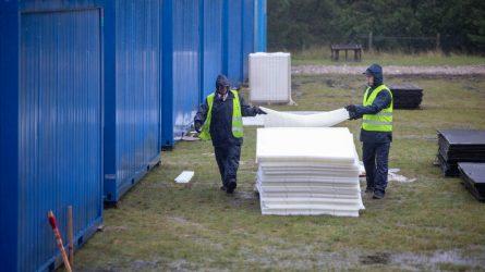 Tiksliname informaciją dėl VSAT sudarytossutartiesdėl konteinerinių namelių nuomos