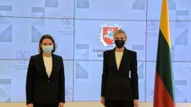 Vidaus reikalų ministrė su Sviatlana Cichanouskaja aptarė neteisėtos migracijos krizę