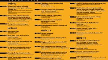 """Miesto šventės """"Šiaulių dienos 785"""" programa rugsėjo 10–11 d."""