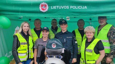 """Jubiliejinėje Utenos miesto šventėje vyko Utenos policijos ir Utenos rajono savivaldybės prevencinis renginys """"Mes už saugų eismą"""""""