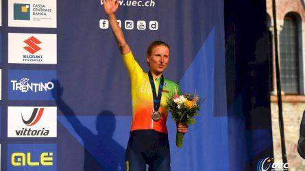 Dviratininkei R. Leleivytei – Europos čempionato bronzos medalis