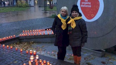 Padėkos  žvakučių akcijoje - pagarba ir ligoninės gydytojams, pacientams bei jų artimiesiems