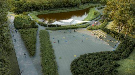 Nauja lietaus vandens talpykla Šeškinės seniūnijoje bus pritaikyta ir rekreacijai